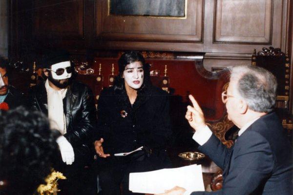 Con Belisario Betancur Artistas por la Paz 1985