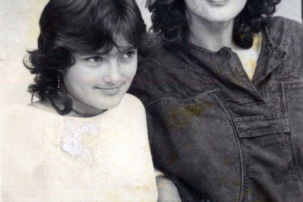 Con su hija Catalina García